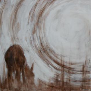 Linda Lemaire senza titolo (asino con luna bassa (80×80)
